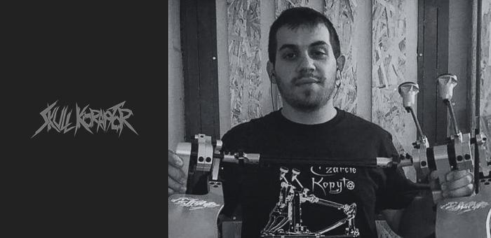 George_Margetis_Skull_Koraptor_czarcie_kopyto_artist_front